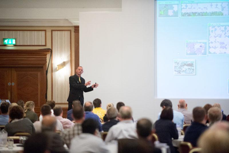 Shane Lukas presenting a keynote presentation